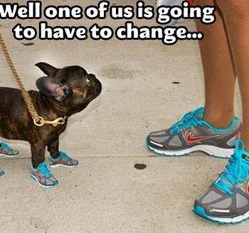 Zmiana obuwia!